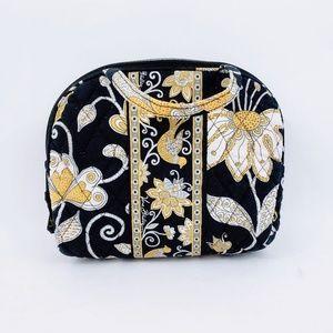 Vera Bradley Yellow Flower Zippered Makeup Bag